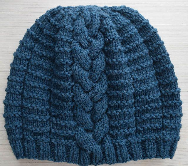 Blissful Braided Beanie | A classic braided knit hat perfect for winter.