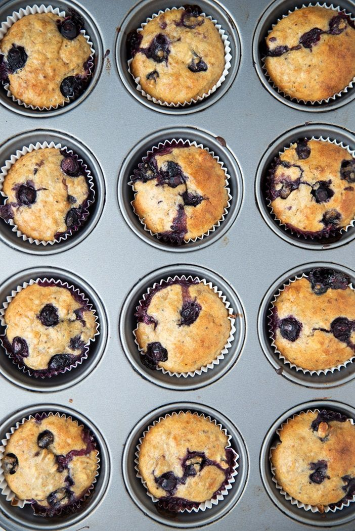 Wacky Blueberry Muffins Recipe - no eggs on hand? Try these naturally egg-free, dairy-free vegan muffins - they use just a handful of cheap pantry ingredients and blueberries, of course!