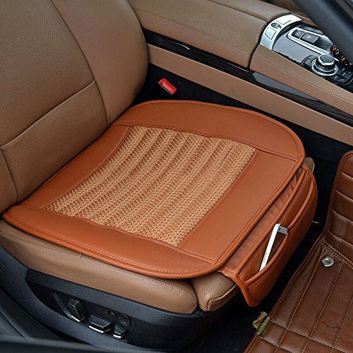 Car Seat Cushion,Suninbox Car Seat Covers[Bamboo Charcoal]Breathable Comfortable Car Cushion,Anti-skid Leather Four Seasons General car seat protector[Brown]