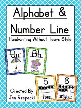"""Perfect alphabet for teachers who use """"Handwriting Without Tears"""""""