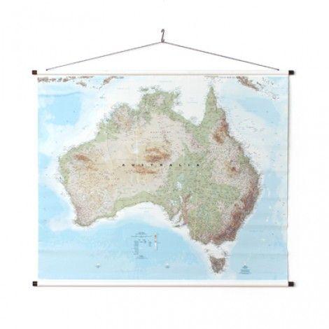 Telegram Map of Australia - Large (1.75 x 1.2m) Canvas Australian Wall Map