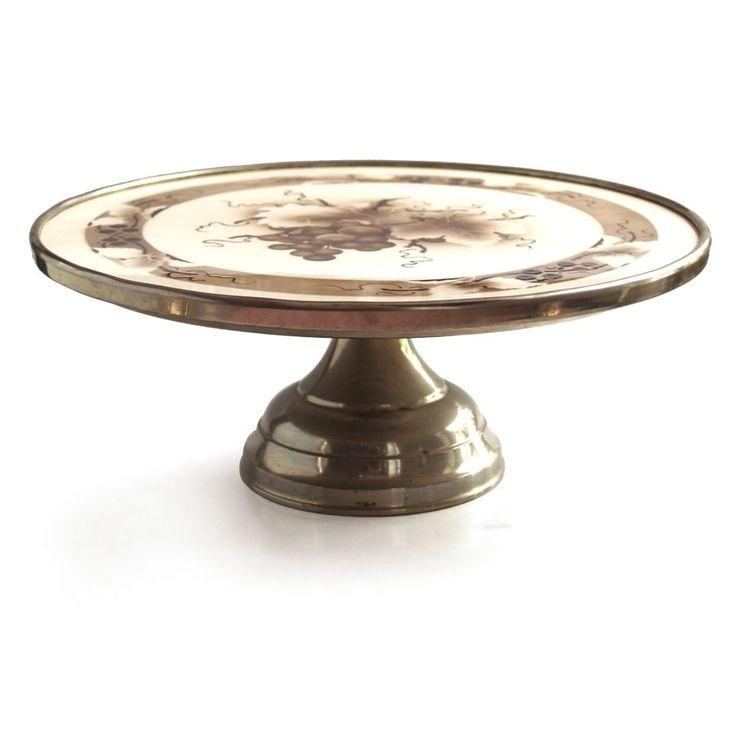Jugendstil Serviertablett antik Tortenaufsatz Tafelaufsatz Keramik Tortenplatte