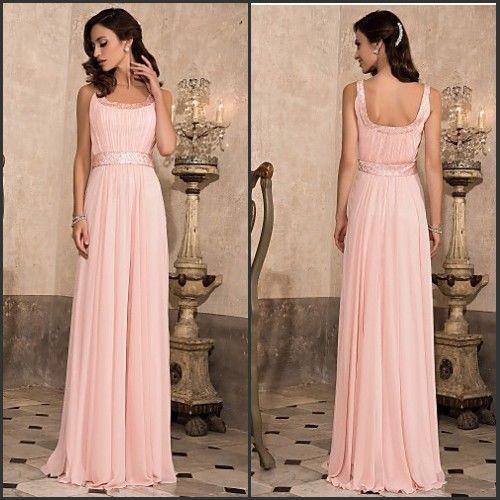 Günstig Rosa Brautjungfernkleider Abendkleider Lang Gr.36 38 40 42 44 46 Billig