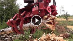 This is BADASS Machine! RaMeC Firewood Processor! - RaMeC Firewood Processor, Finnish cooperation, designed a hydraulically controlled rotating wedge swivel bank tha