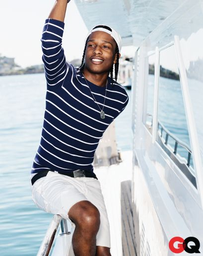 ASAP Rocky in Sailor Clothing GQ May 2013: Wear It Now: GQ
