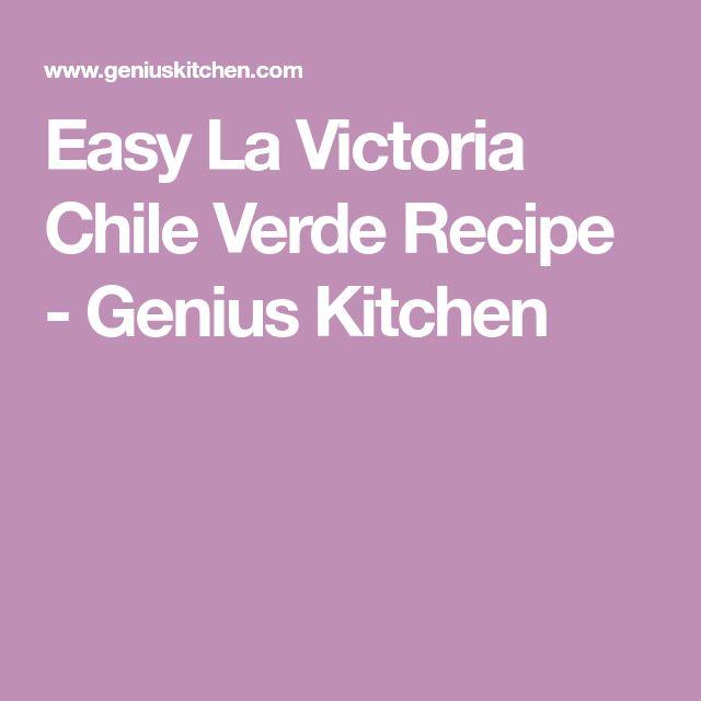 Easy La Victoria Chile Verde Recipe - Genius Kitchen