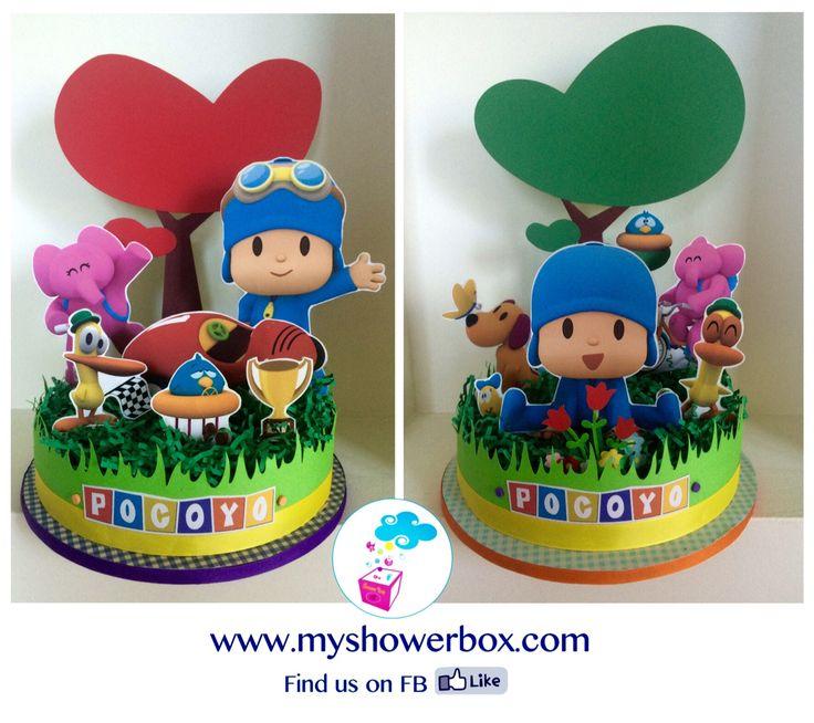 Pocoyo centerpieces ShowerBox Designs www.myshowerbox.com Find us on FB #pocoyo  #birthday