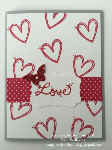 stampin up occasions catalog 2017 valentine cards love sparkles stamp set kim williams