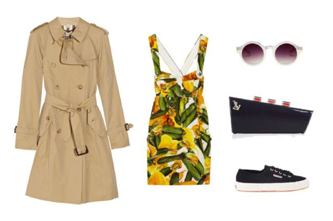 My dream holiday outfit, please! #Burberry #Superga #Dolce