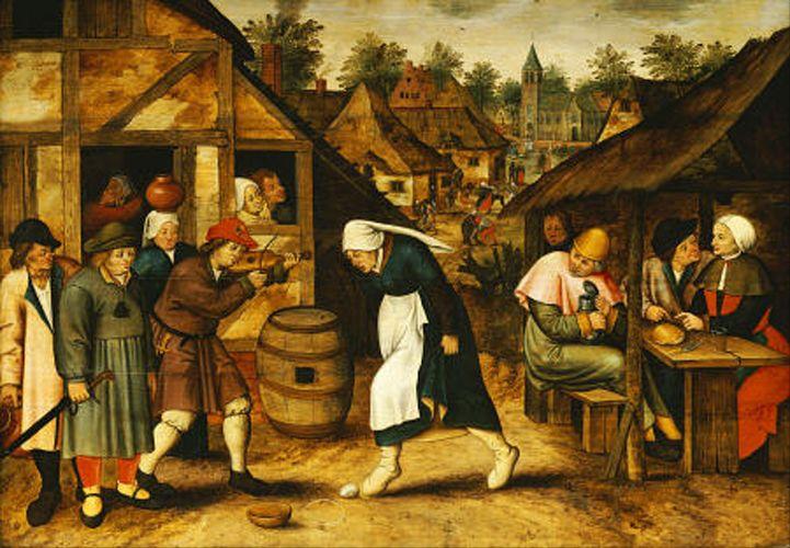 the Egg Dance by Pieter I Bruegel the Elder