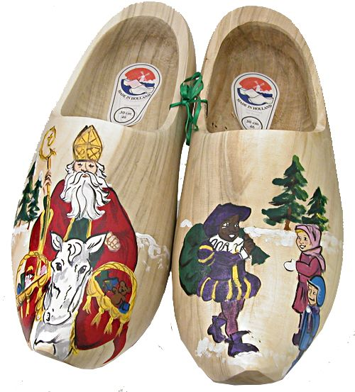 Sinterklaas Shoes If i have a pair of wooden shoes from the Van family, this would be cool