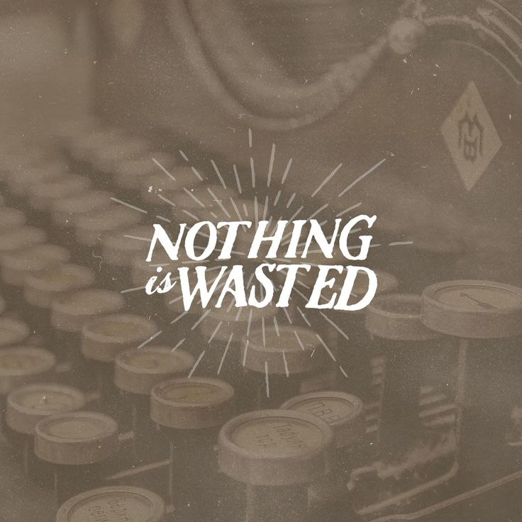 "NEW DEVOTION ""Nothing is Wasted""  Ever been through certain things and thought to yourself ""That was a waste of time…"" READ ON → http://pktfuel.com/nothing-wasted"