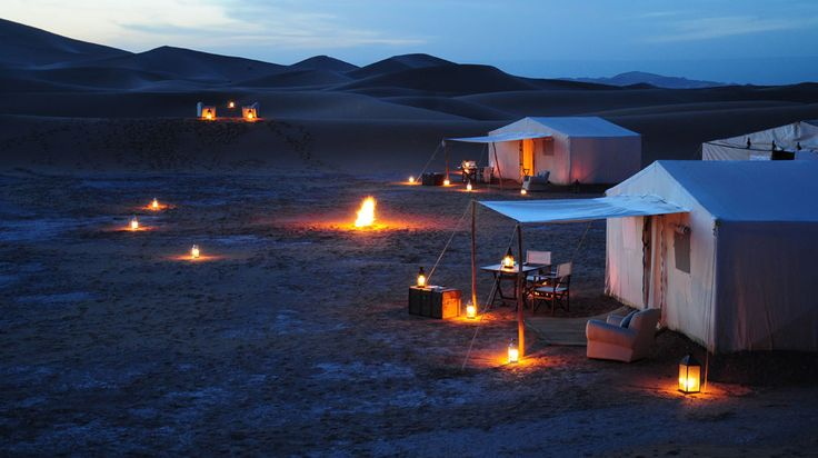 Azalai Desert Camp, dunes de Chégaga, Maroc