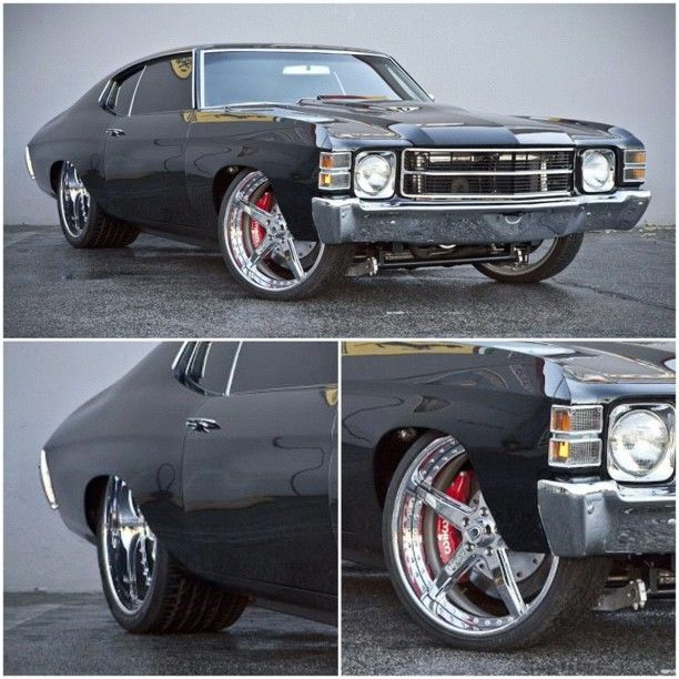 Chevelle Bow Down Muscle Car Tubbed Staggered Asanti Wheels