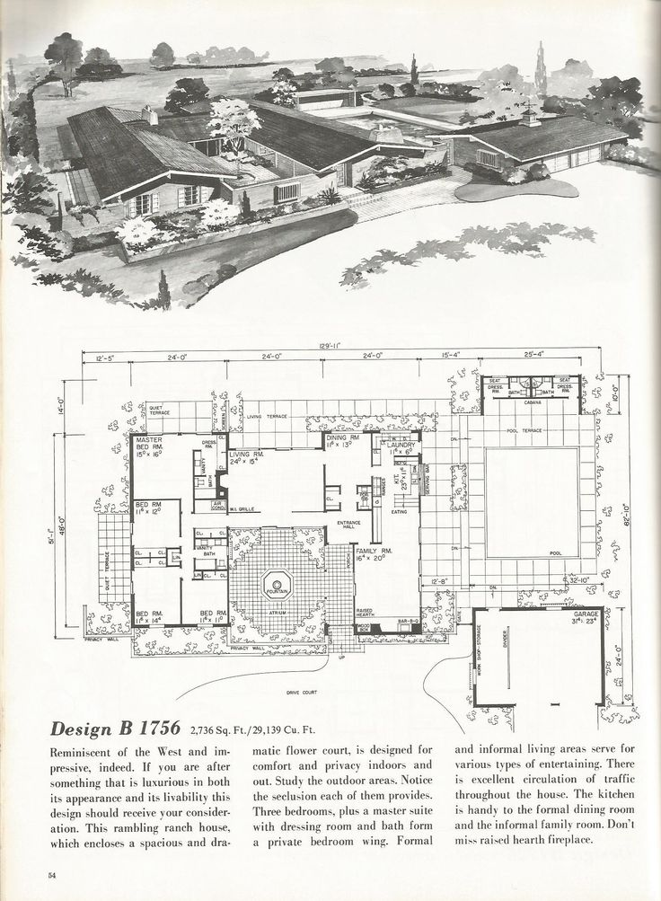 vintage house plans, western ranch houses | cool pads
