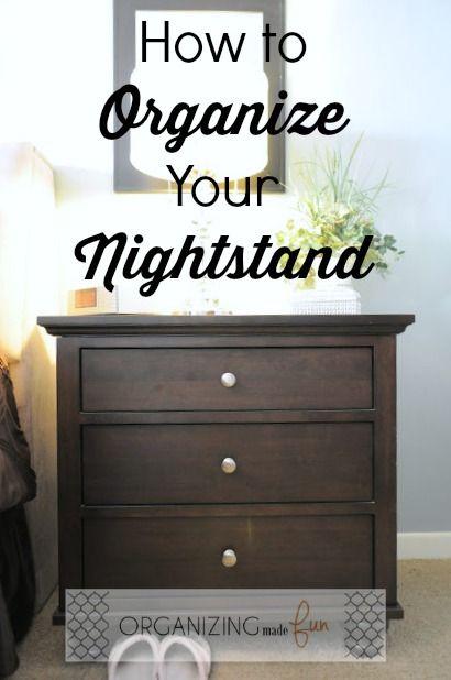 How To Organize Your Nightstand :: OrganizingMadeFun.com
