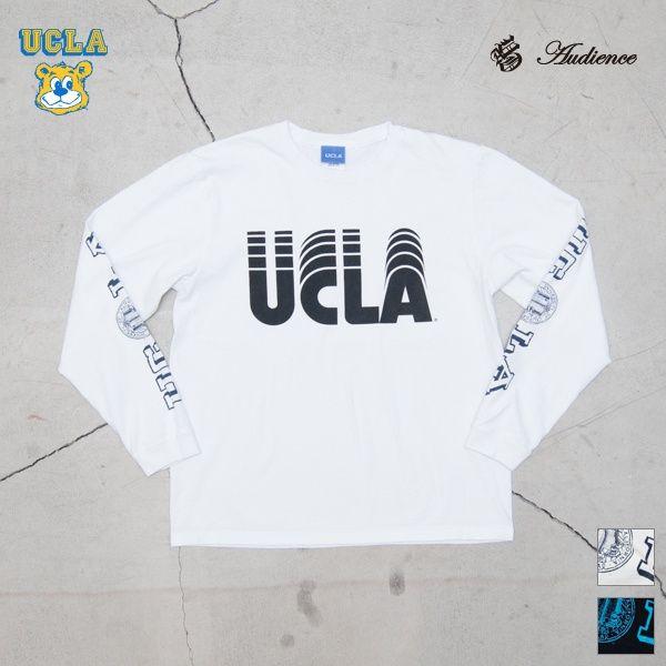 """2016年8月5日【 Web Store 更新 】  オールドプリント""""UCLA-SLIDE""""米綿長袖TEE/ Audience [Men's][ http://www.aud-inc.com/product/2582 ] [Lady's][ http://www.aud-inc.com/product/2484 ]  #Tシャツ #高円寺 #UCLA #プリントT #ベースボールアンダー #セットイン #夏 #アメカジ #メンズ #mens #レディース #ladys #東京 #style #fashion #NowAvailable #webstore"""