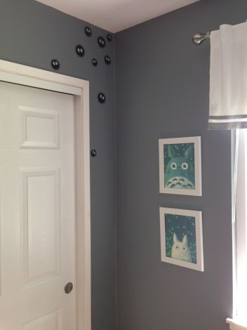 Art ideas for Hendrix's room. Totoro art and soot sprites. Photo by Ariane Coffin.