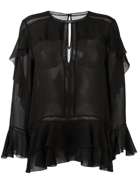 Купить Alberta Ferretti блузка с рюшами.