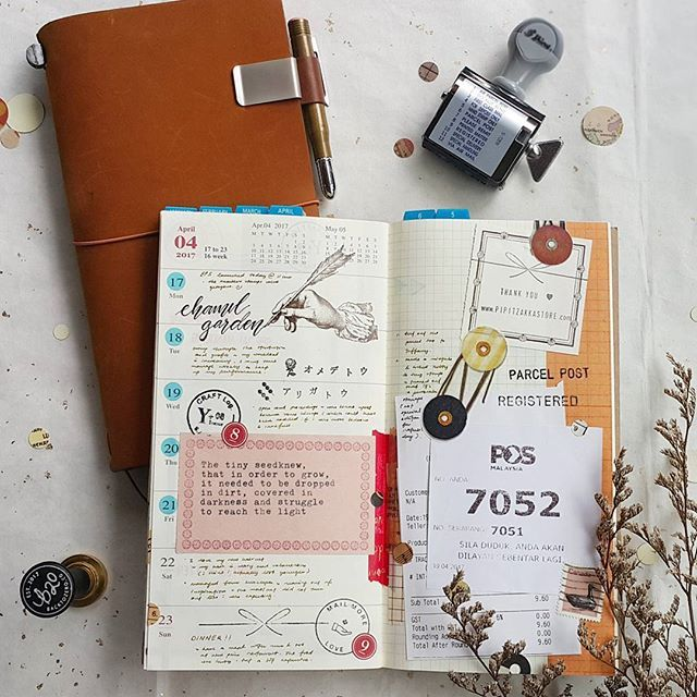 Week 16/2017 ~ Keeping a journal is like having a relationship with your mind. #midori #travelersnotebook #travelersfactory #designphil #journal #journallover #keepanotebook #keepwriting #stationeryaddict #loveforstationery #loveforpaper #手帐