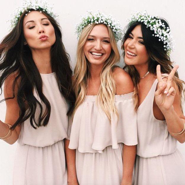 Romantic Boho  Fun  Mix & Match your #bridesmaids dresses. Let them be unique  free spirited  #wedding #theweddinginspirations #bridalstylist by the_wedding_inspirations