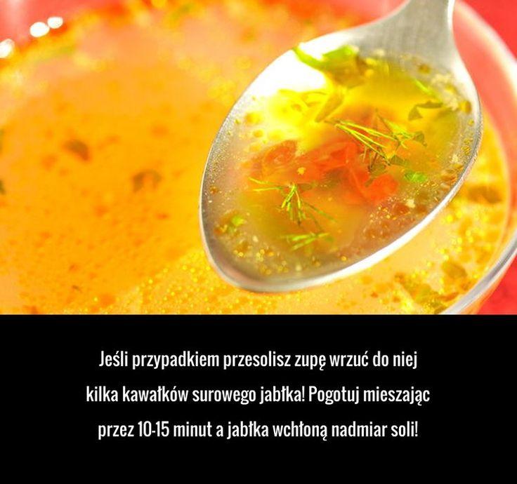 Świetny trik na uratowanie przesolonej zupy
