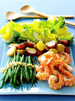 5 Family-Friendly Supper Salads: Shrimp Salad Nicoise