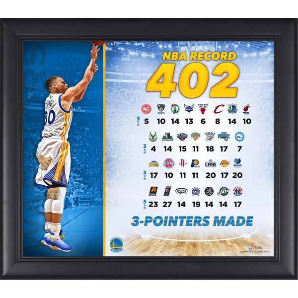 """Stephen Curry Golden State Warriors Fanatics Authentic Framed 15"""" x 17"""" NBA Record 402 3 Pointers Made Collage - $49.99"""