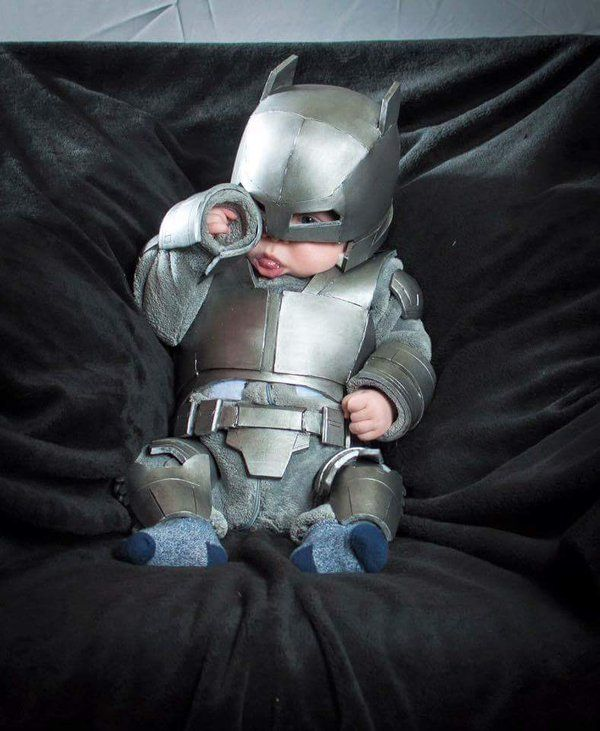 Insanely Cute Armor Batman Baby Cosplay — GeekTyrant