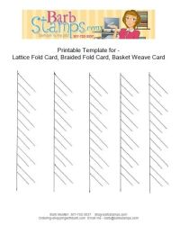 Free printable template to create lattice fold cards.  they are also called braided fold cards or basket weave cards