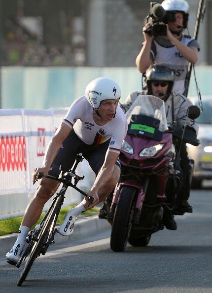Tony Martin wins Gold ITT 2016 UCI Road World Championships photo cred Karim Jaafar / AFP/ Getty Images