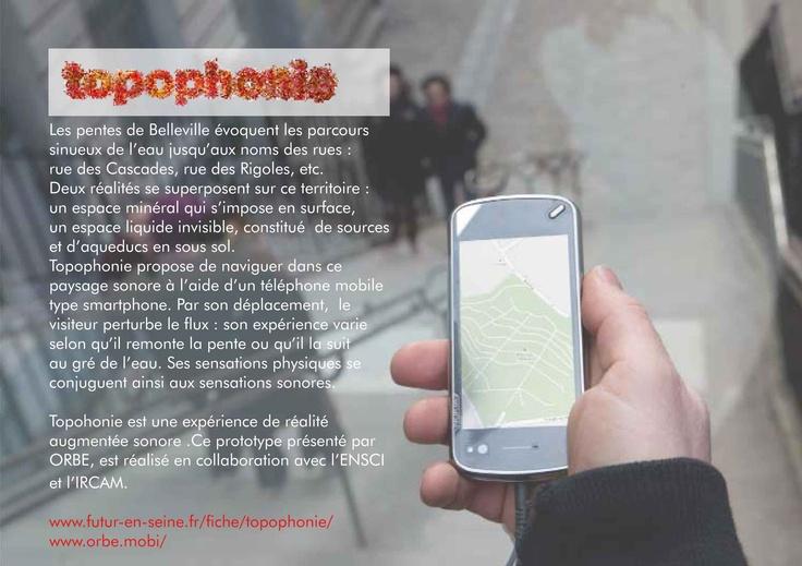 TOPOPHONIE DE L'EAU [ web ] ENSCI. Topophonie présenté à l'occasion du Festival Futur en Seine 2012.   Source : École nationale supérieure de création industrielle.  www.ensci.com