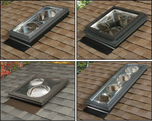 Spyder multi tube skylight system configurations add natural light to small bathrooms that - Skylight house plans natural light ...