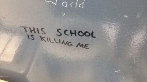 """This school is killing me"""