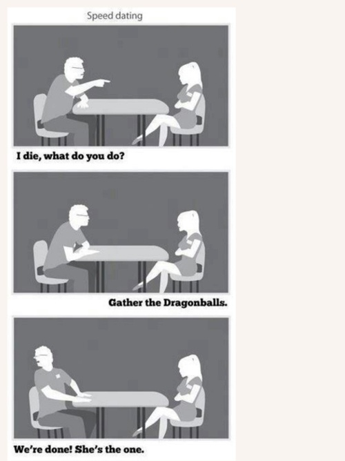 Speed dating dragon ball z funny