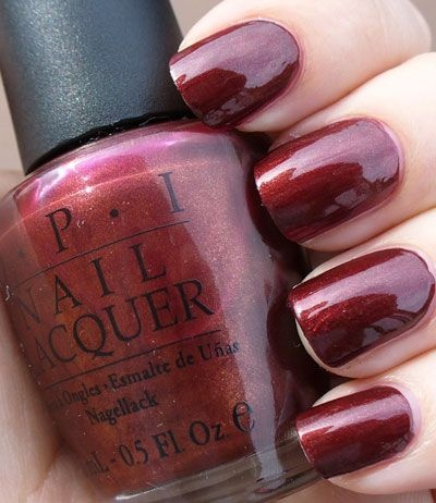 OPI Romeo and Joliet. Have this on my nails now, and I've never been more obsessed with a color. It's perfect for fall/winter.