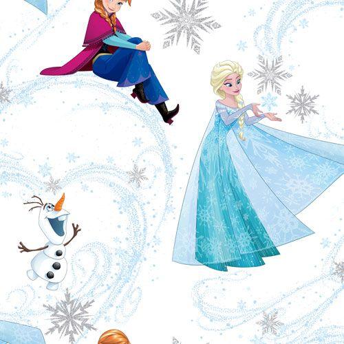 Tapet med Anna & Elsa från filmen Frost från kollektionen Kids@home 5, 101395. Klicka för fler tapeter med Disneyfigurer till barnrummet!