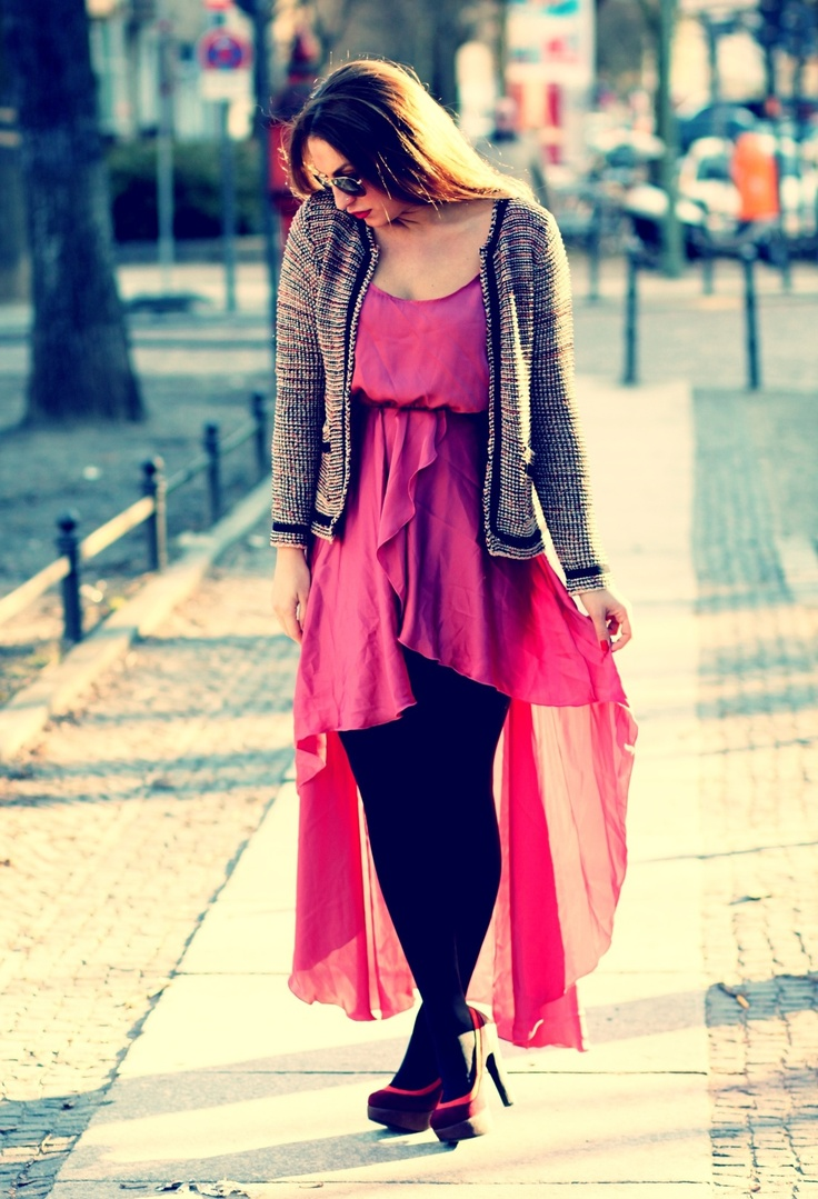 Vokuhila Dress #fashion #outfit #style #look , Primark in Blazers, inlovewithfashion in Dresses, Primark in Heels / Wedges