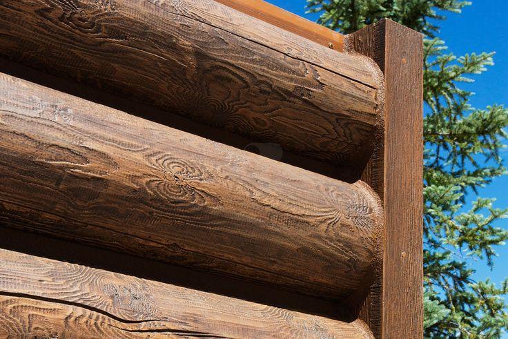 8 round everlog concrete log siding 3 4 adjustable E log siding