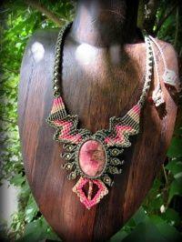 1 балл качества, что Господь ★ Рыцарь южноамериканской вдохновил дизайн ожерелье * Power Stone натуральный камень * хиппи