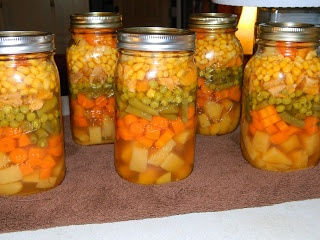 Farm Girl Tails: Layered Chicken Soup......would be good to give as a gift to a new mom or somebody sick!