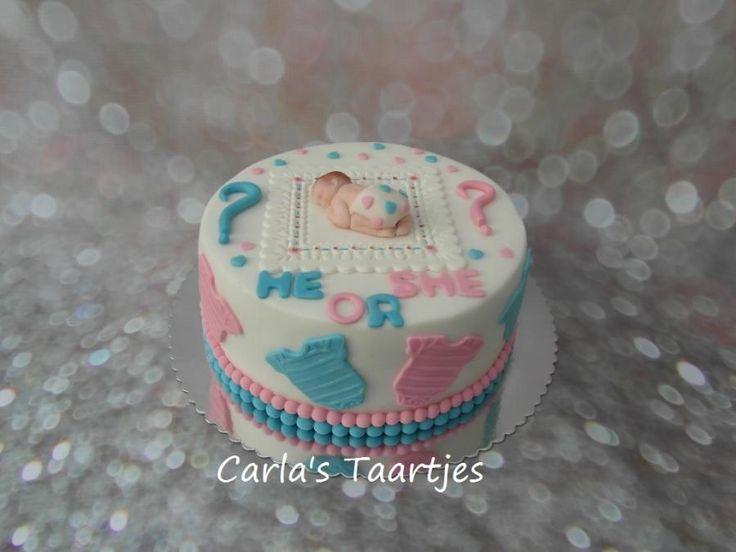 Gender Reveal Cake by Carla Del Sasso