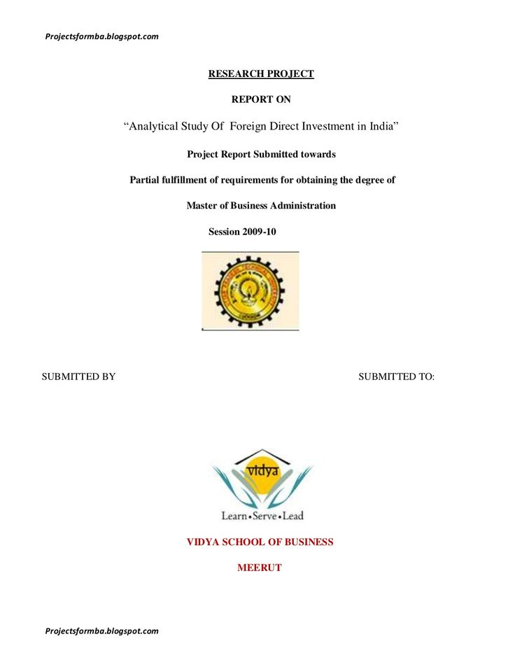 A project report on analytical study of foreign direct investment in india by Hemanth CRPatna via slideshare