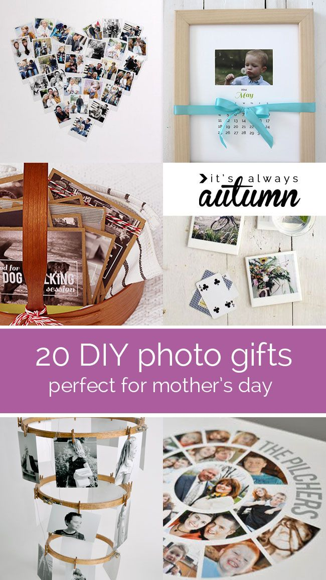 great collection of DIY photo gifts perfect for Mother's Day! I want to make #9!