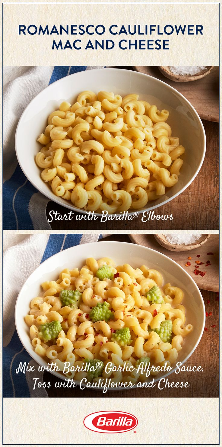 You and your family will love this veggie-filled mac and cheese! Save this recipe for an easy pasta meal with a dose of fresh romanesco cauliflower.
