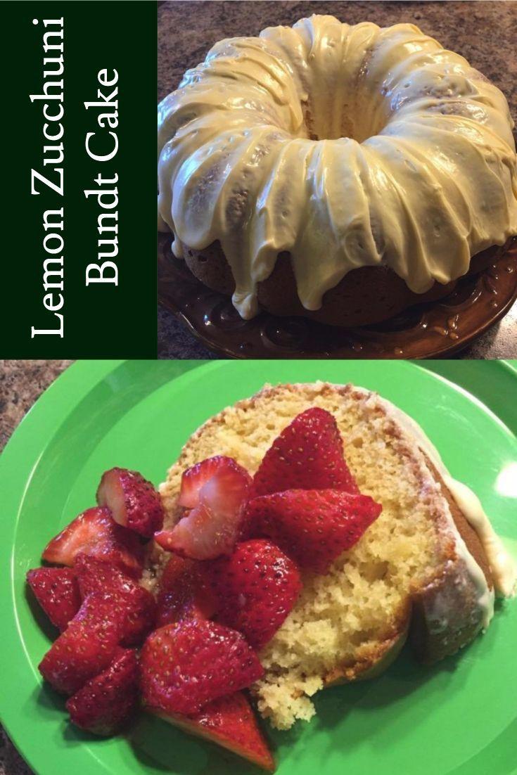 Lemon Zucchuni Bundt Cake Recipe