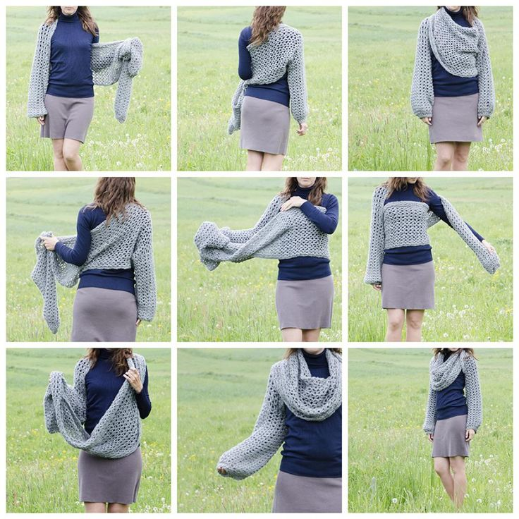 ao with <3 / crochet bolero scarf. I would love to have this pattern in english but from the looks of it its a giant rectangle with cuffs
