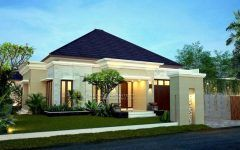 Contemporary House Front With Review House Of Balcony Jogja And