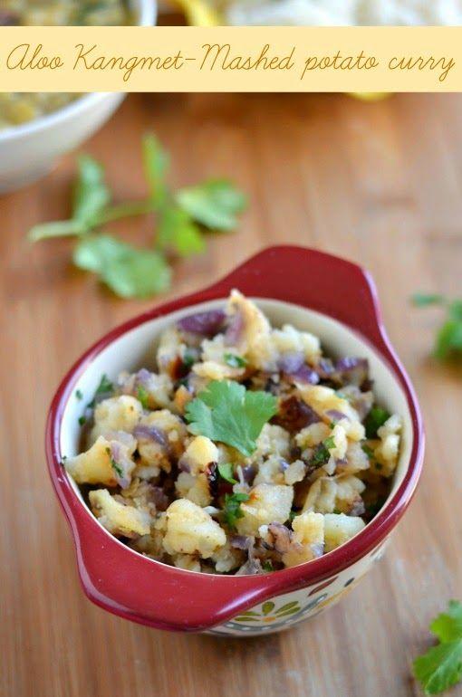 Aloo Kangmet- Mashed potato manipuri style
