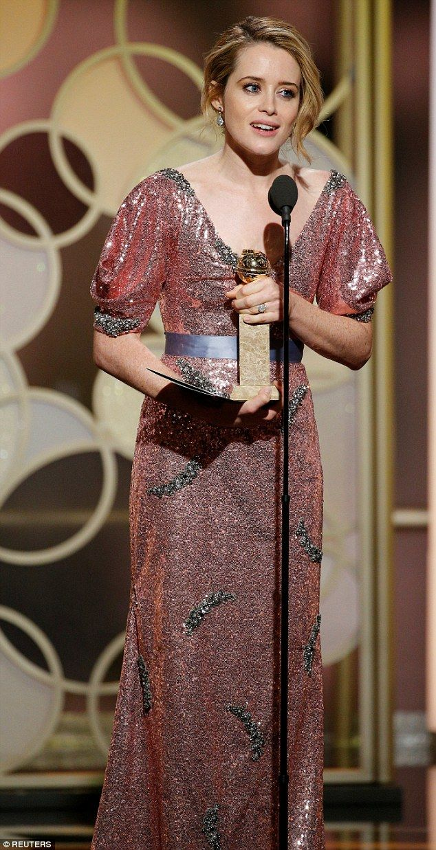 Rule Britannia! Claire Foy won the Golden Globe for best actress in a television drama on Sunday night